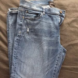 Ann Taylor Lightly Distressed Jeans